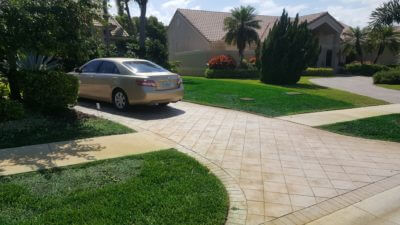 turf installation landscape design project palm beach florida 400x225 Landscaping Pictures